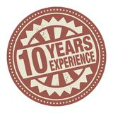 Abstract stamp or label with the text 10 years experience writte. N inside, vector illustration royalty free illustration