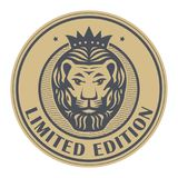 Abstract stamp with Lion Head vector illustration