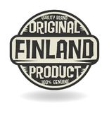 Abstract stamp with text Original Product of Finland. Vector illustration Royalty Free Stock Photo