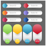 Abstract Standard Size Web Banner and buttons in numbers Stock Image