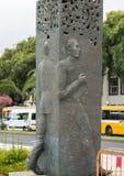 Abstract standbeeld op de waterkant van Funchal op het Eiland van Madera Stock Afbeelding