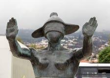 Abstract standbeeld op de waterkant van Funchal op het Eiland van Madera Royalty-vrije Stock Afbeelding