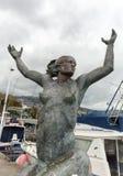 Abstract standbeeld op de waterkant van Funchal op het Eiland van Madera Royalty-vrije Stock Fotografie