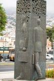Abstract standbeeld op de waterkant van Funchal op het Eiland van Madera Royalty-vrije Stock Foto