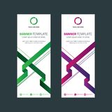 Abstract standing Banner with Geometric Shape 1. Template for your bussines website or advertising Abstract standing Banner with Geometric Shape Royalty Free Illustration