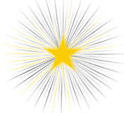 Abstract - Star. Yellow Star Vector Illustration
