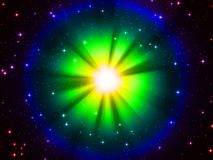 Abstract star. 3d rendered illustration of an abstract colorful background Stock Images