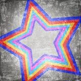 Abstract star. On dark grunge background royalty free illustration