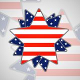 The abstract star with american flag Stock Photography