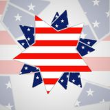 The abstract star with american flag Royalty Free Stock Photos
