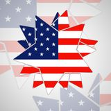 The abstract star with american flag Stock Photos
