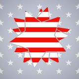 The abstract star with american flag Stock Photo
