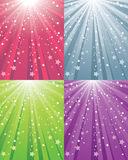 Abstract Star Background. With 4 Colors Stock Photography