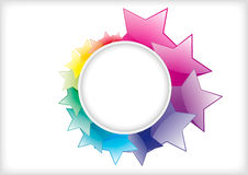 Abstract star background. Abstract star colorful shiny background design Royalty Free Stock Photography