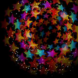 Abstract star background. Illustration for your design Royalty Free Stock Image