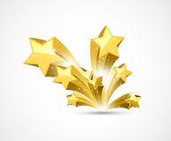 Abstract star background. Abstract star gold art background Stock Image