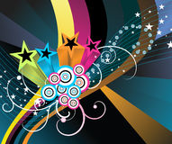 Abstract star background. Abstract vector background with stars Stock Illustration