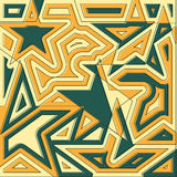 Abstract star background. Original decoration design. Vector ill Stock Photos