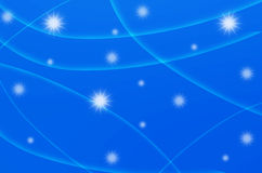 Abstract star with blue background Stock Photography