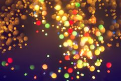 Abstract star bokeh background or texture. Royalty Free Stock Photography