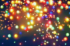 Abstract star bokeh background or texture. Stock Image