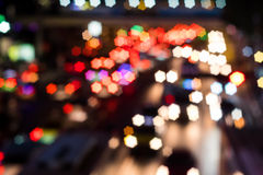 Abstract star bokeh of transportation on street. Star bokeh from transportation on street at night Royalty Free Stock Photo