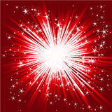 Abstract star burst. Red color Royalty Free Stock Image