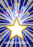 Abstract star burst background Royalty Free Stock Images