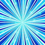 Abstract Star Burst Ray Background Blue. Vector Illustration Stock Photography