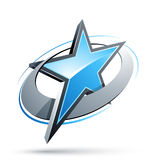 Abstract star button stock illustration