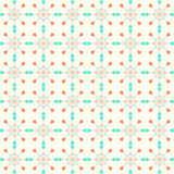 Abstract Star and Circle Pattern on Pastel Background. Circle and triangle and arrow pattern on pastel background. Sweet and modern seamless pattern style for Stock Photography