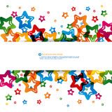 Abstract star colorful background Stock Photos