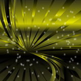 Abstract star dots green rays background stock illustration
