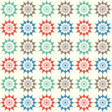 Abstract Star Flower Seamless Pattern on Pastel Background Stock Photos
