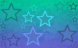 Abstract star generated background wallpaper Royalty Free Stock Photography