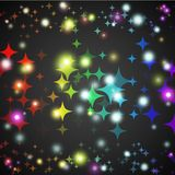 Abstract star glowing shape with lights and dark Royalty Free Stock Photography