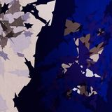 Abstract star gold white and blue color wallpaper Royalty Free Stock Photos