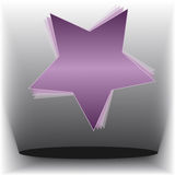 Abstract star on gray background Stock Photo