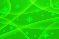 Abstract star with green background Stock Photo
