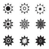 Abstract star icon set  and logos Royalty Free Stock Photos