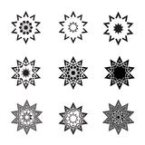 Abstract star icons  and logos. An illustration of Abstract black star icons  and logos Stock Photos