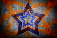 Abstract star on light grunge Stock Image