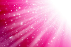 Abstract star light with pink  background. Stock Image
