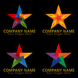 Abstract Star Logo Origami and Polygonal Concept Stock Image