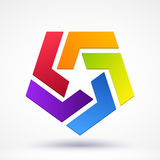 Abstract Star logo Royalty Free Stock Photography
