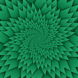 Abstract star mandala decorative pattern green background square image, illusion art image pattern, background photo Stock Photos