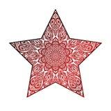 Abstract star. mandala ornate. Royalty Free Stock Photos