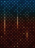 Abstract star night. Vibrant abstract background made out of blue and gold stars Stock Photography