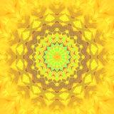 Abstract star ornament yellow brown Stock Image
