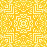 Abstract star ornament yellow Stock Images